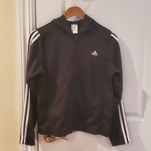 Hooded Adidas track suit